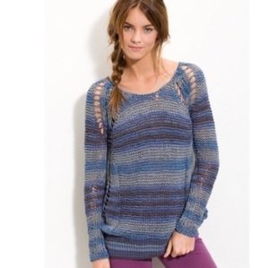 Free People Desert Moon Striped Tape Yarn Sweater